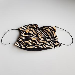 Mondkapje volwassen zeebra bruin zwart