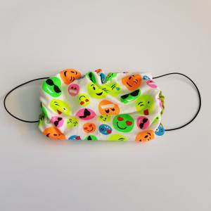Mondkapje volwassen - Neon smiley's/ Emoji