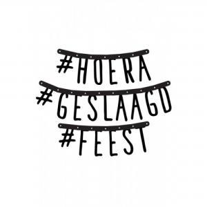 Guirlande  #HOERA #GESLAAGD #FEEST