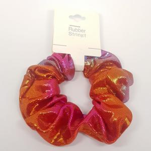 Scrunchie pastel roze - oranje - lila