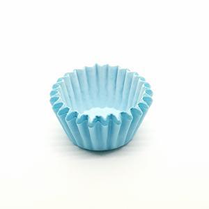 Cupcake vorm  Ø 8 cm LICHTBLAUW 200 stuks