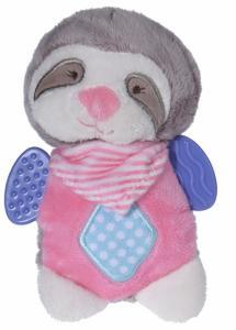 Luiaard knuffel roze 19cm