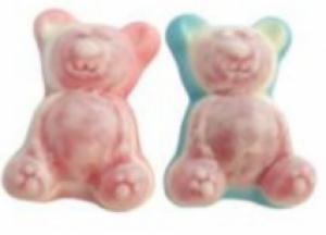 Gummiberen roze/blauw - prijs is per stuk