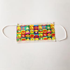 Kinder wegwerp-mondkapjes emoji kleur