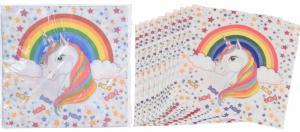 Feestartikelen - Unicorn regenboog Servetten 16-stuks