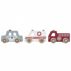 Little Dutch Houten hulpverleningsauto's/alarmdiensten