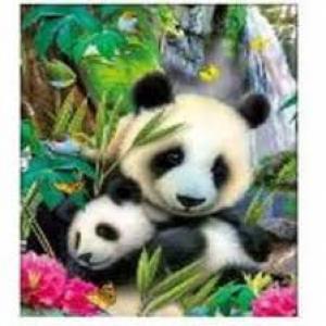 Diamond painting twee pandaberen