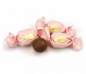 Themasnoep - Rovelli chocolade bal roze wikkel prijs per stuk
