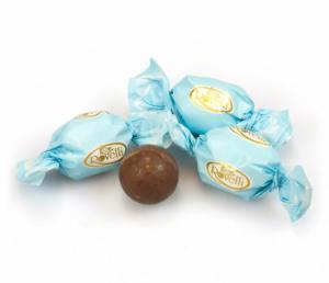 Themasnoep - Rovelli chocolade bal blauwe wikkel prijs per stuk