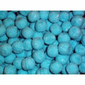 Snoepballen - Framboos blauw - prijs per 14 stuks