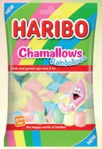 Themasnoep - regenboog marshmallows prijs per zak 175 gram