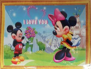 Diamond Painting Mickey en Minnie I Love You 30 x 40 cm