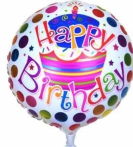 Folie ballon Happy Birthday taart