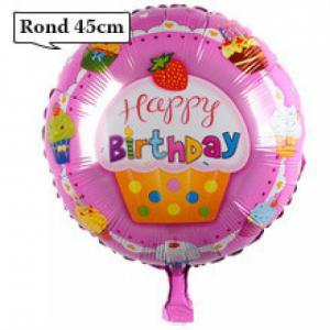 Folie ballon Happy Birthday cupcake 45cm