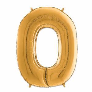 Cijferballon 32 inch - 80cm - Goud