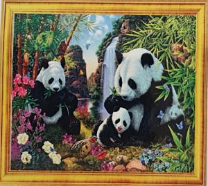 Diamond Painting drie pandaberen 20 x 30 cm