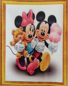 Diamond Painting Mickey en Minnie Ijsje 30 x 40 cm