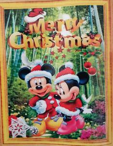 Diamond Painting Merry Christmas Mickey en Minnie 40 x 50 cm