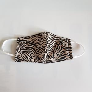 Kleuter mondkapje - zebra - 4-6 jaar Model 2