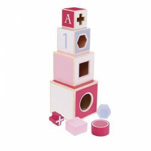 Jipy houten stapeltoren roze
