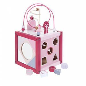 Jipy houten activiteiten kubus roze