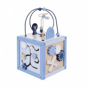 Jipy houten activiteiten kubus blauw