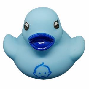 Blauw badeendje met babyhoofdje 5 cm