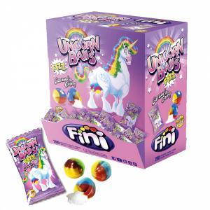 Unicorn snoep regenboogbal prijs per stuk (glutenvrij)