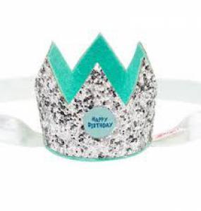 Souza Happy Birthday kroon met elastiek mint