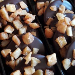 Appel kaneel oblies Puur chocolade 100 gram