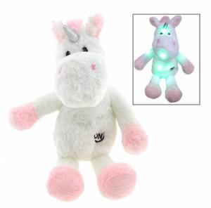 Unicorn knuffel met led licht 37cm