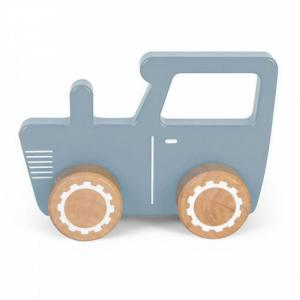 Houten Tractor blauw - Little Dutch