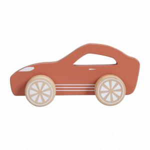 Houten sport auto roestkleur - Little Dutch