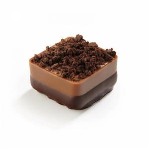 Brownie handgemaakte praline - melkchocolade prijs is per stuk.