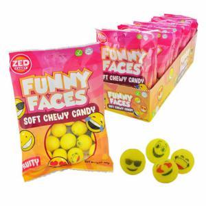 Emoji snoepballen prijs per zakje 106 gram HALAL