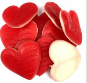 Jelly hart groot prijs per stuk.