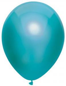 Ballon petrol latex 30cm metallic prijs per 10 stuks