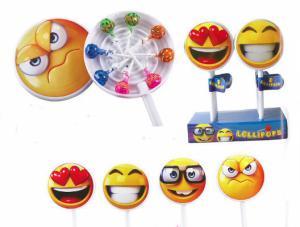 Snoep - Emoji lolly XL - gevuld met 8 lolly's