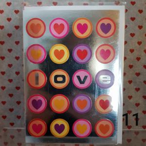 Diverse kaarten o.a Valentijn, Liefs, Ik hou van je e.d - deel 2