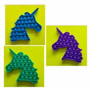 Pop-it Bubble pop prijs per stuk -Unicorn drie verschillende kleuren