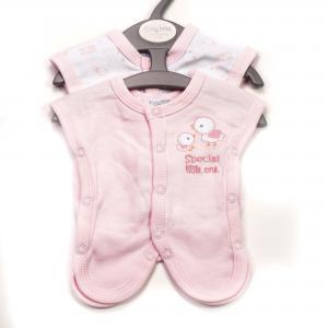 Prematuur (ziekenhuis) hemdjes roze 2 stuks voor baby's van 0,5 - 1 kg