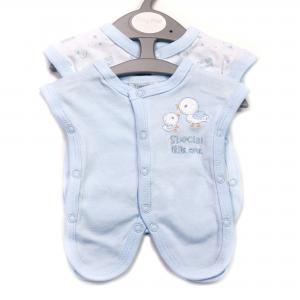 Prematuur (ziekenhuis) hemdjes blauw 2 stuks voor baby's van 0,5 - 1kg