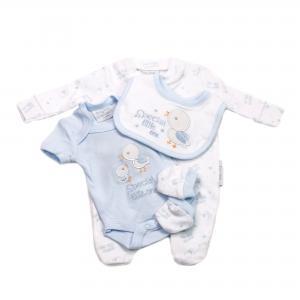 Prematuur vierdelig babysetje blauw 2.3 - 3.6kg