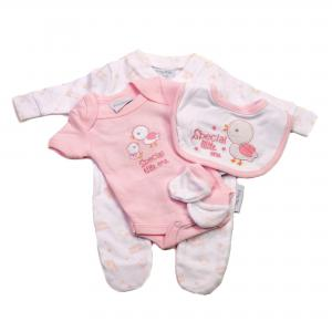 Prematuur vierdelig babysetje roze 1.4-2.3kg