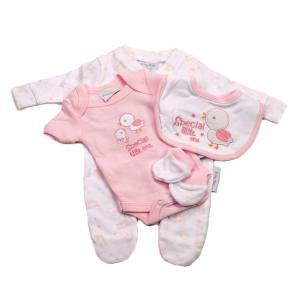 Prematuur vierdelig babysetje roze 2.3 - 3.6kg