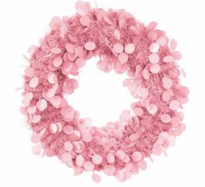 Deurkrans roze 45cm brandvertragend