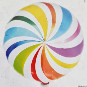 Folie ballon regenboog kleuren spiraal 45cm