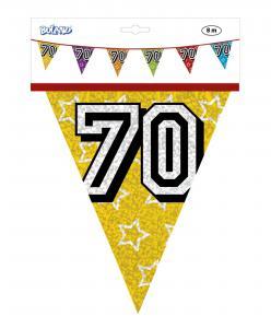 Vlaggenlijn jarig 70 jaar