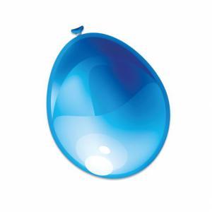 Ballon blauw metallic 30cm (10-stuks)