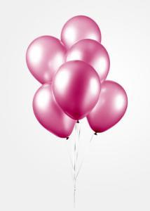 Ballonnen - Pearl hot pink - 10 stuks, 30 cm
